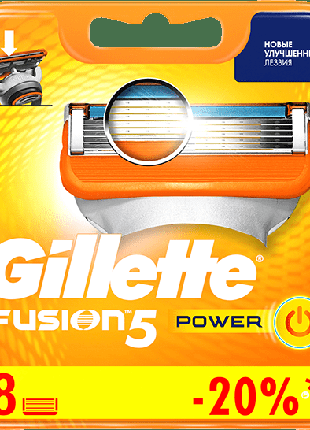 Оригинал Германия лезвия Жилет Фьюжен Павер Gillette Fusion Power
