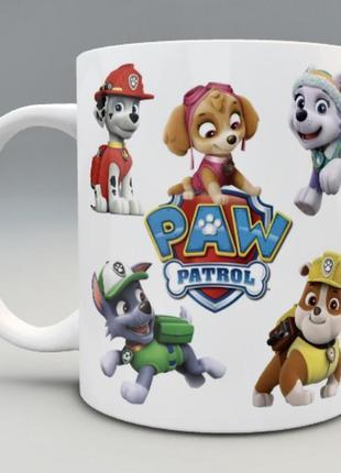 🎁подарок чашка ребенку «щенячий патруль» с  вашей фотографией