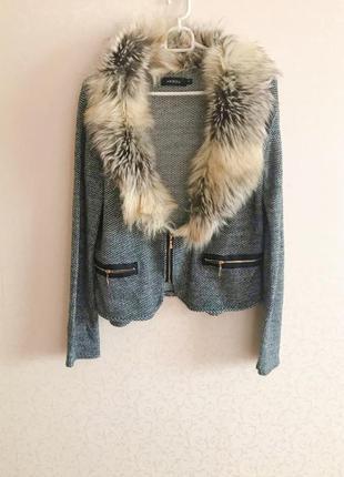 Пиджак, серый пиджак, пиджак с мехом, пиджак италия,пиджак на ...