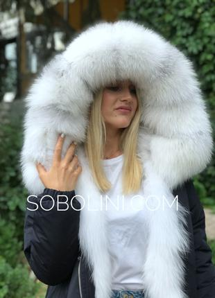 Женская Парка с мехом  полярной лисы