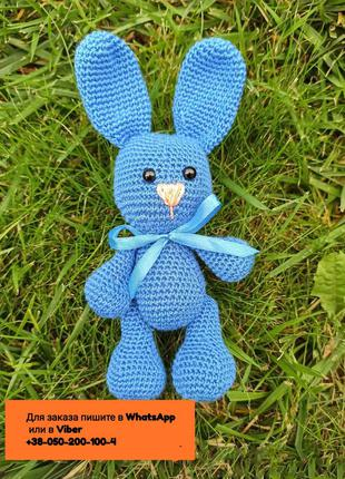 Амигуруми зайка заяц вязаная игрушка 19 см.