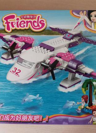 Конструктор аналог Lego Friends Самолет 272 детали. Лего френдс.