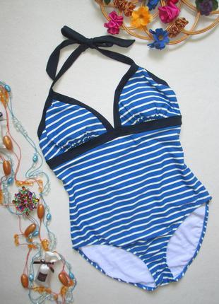 Суперовый сдельный слитный купальник в полоску морской стиль b...