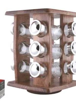 Специи на деревянной подставке набор ёмкости для специй на 13