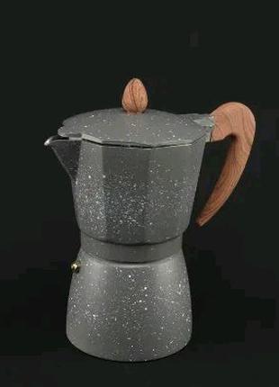 Гейзерная кофеварка 3 6 9 чашек из алюминия, кофе А Плюс