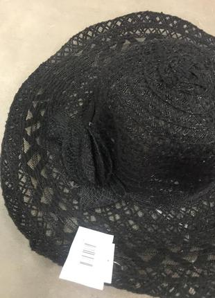 Шляпа чёрная летняя пляжная