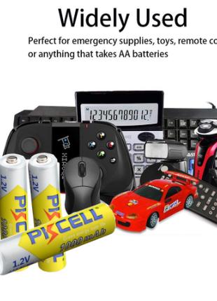Аккумуляторная батарея PKCELL Ni-mh AAА 1000 mAh с зарядкой.