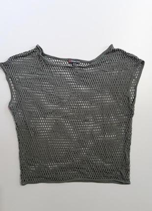 Фирменная футболка майка сетка