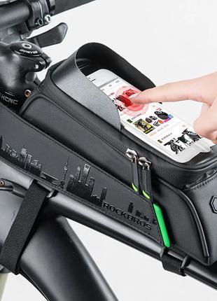 Велосумка для телефона на раму Rockbros, велосипедная сумка, вело