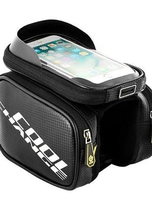 Нарамная велосумка для телефона CoolChange, сумка на раму, вело