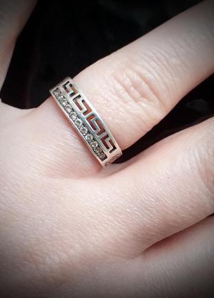 "Кольцо серебро 925 пр ""спаси и сохрани"" 11 фианитов 17р.. бесп..."