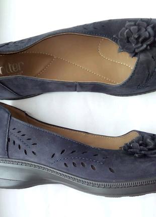Hotter comfort concept кожаные туфли балетки р. 41,5 ст. 27 см