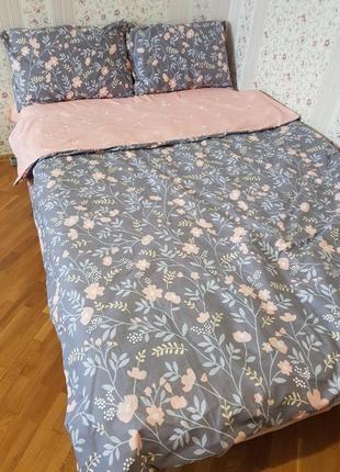Комплект постельного белья, листья и цветы, полуторное, в ассо...