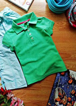 Детская яркая натуральная футболка - тенниска - поло для девоч...