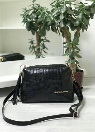 Шикарная женская сумка michael kors в черном цвете😍
