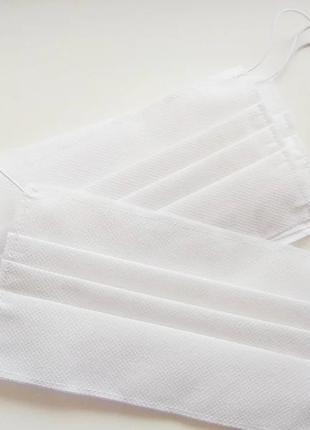 Захисна маска біла / Защитная маска белая / Медицинская маска для