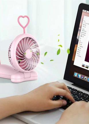 Вентилятор mini Slim Fan аккумулятор встроенный