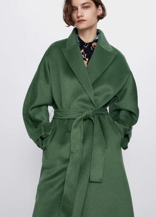 Новое демисезонное пальто халат, пальто на запах Zara