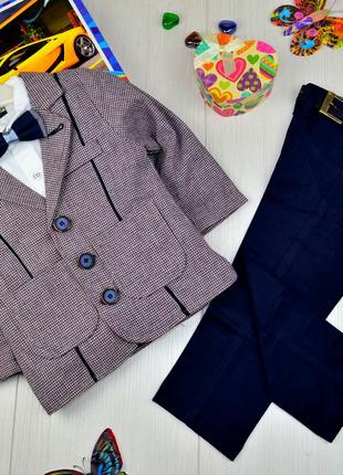 Нарядный костюм для мальчика с пиджаком на 2-4 года