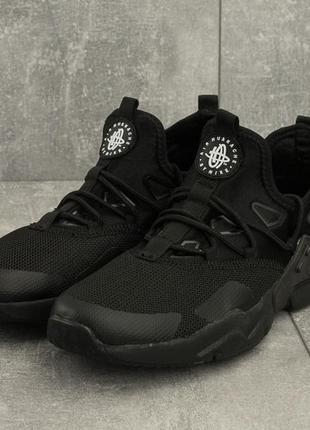 Мужские кроссовки nike huarache (черные)