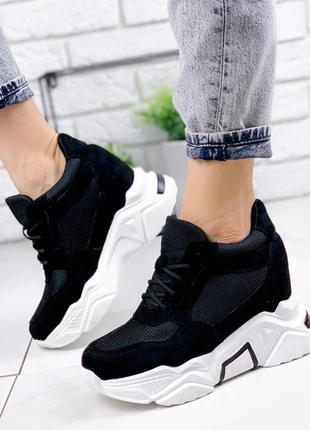 Сникерсы кроссовки женские черные