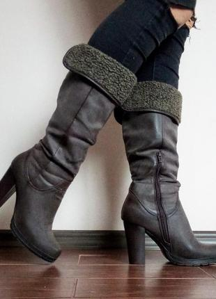 Чоботи осінні(весняні) lisa-w/ осенние сапоги на каблуке