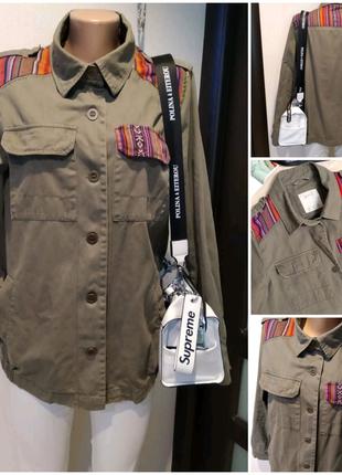 """Классная хлопковая куртка парка пиджак ветровка """"милитари"""""""