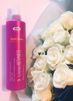 Спрей с кератином для выправления волос lisap fluid ultimate, ...