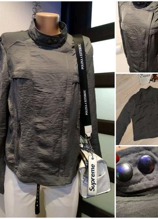 Отличная шелковистая куртка парка пиджак жакет косуха