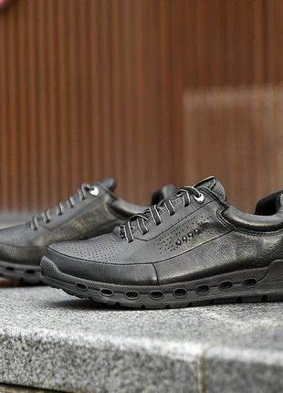 Мужские кожаные кроссовки ecco cool 2.0 gore tex. разм 40-44