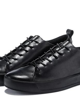 Мужские кожаные кроссовки кеды ecco soft 8 men's
