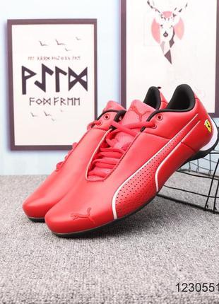 Мужские кожаные кроссовки puma ferrari future cat ultra, красные