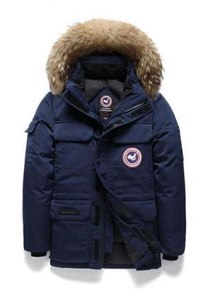Мужская зимняя куртка аляска пуховик. очень тёплая