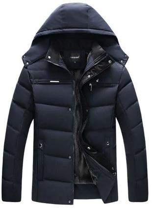Мужская зимняя куртка на меху kang, синяя