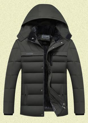 Мужская зимняя куртка на меху gyfs, хаки