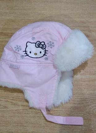 Шапка зимняя hello kitty h&m