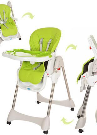 Детский стульчик для кормления M 3216-2-5 салатовый