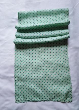 Натуральный шелк, шарфик в горошек, 32*156