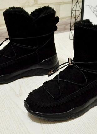 Ботинки угги в спортивном стиле