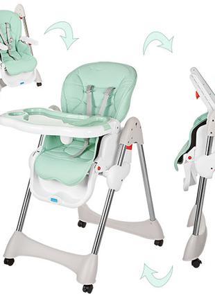 Детский стульчик для кормления M 3216-5-2 мятный