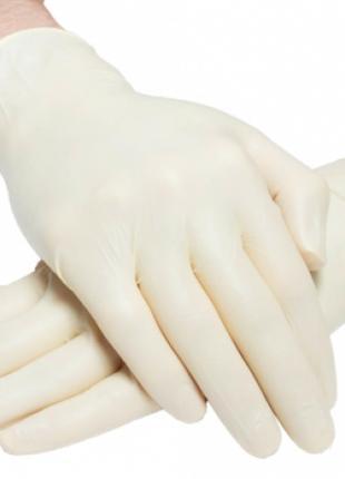 Латексные перчатки без пудры