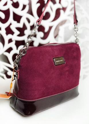 Бордовая сумка с натуральной кожи. кожаная сумка. клатч