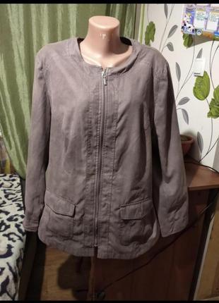 ❤️❤️❤️легкий тонкий пиджак ветровка куртка 22 размер