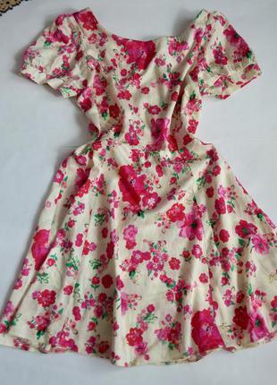 Платье 46 48 размер мини крутое повседневное  розовое