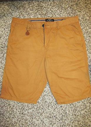 Мужские шорты горчичного цвета bershka