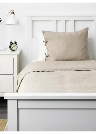 Льняное постельное белье puderviva ikea / пудервива икеа 150x2...