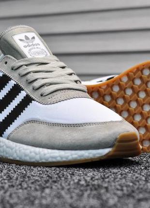 Мужские кроссовки adidas iniki runner (черно/белые)