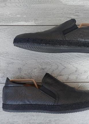 Zign мужские туфли мокасины натуральная кожа черные