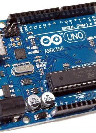 Arduino UNO R3 + USB кабель  ATmega16U2 + ATmega328P DIP