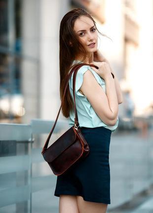 Женская сумка, итальянская кожа краст, сумка кросс боди, сумоч...